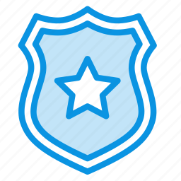 police, protect, protection, secure, security, sheriff, shield icon