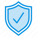 protected, security, shield icon