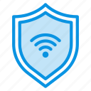 firewall, internet, protection, secure, security, shield, wifi icon