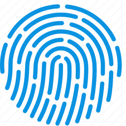 access, finger, fingerprint, id, identity, security, touch icon