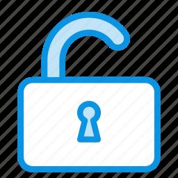 lock, padlock, password, private, protection, secure, unlock icon