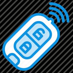 car, key, wireless icon