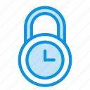 lock, time icon