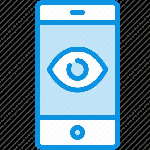 camera, control, remote, smartphone, spy, trojan, virus icon