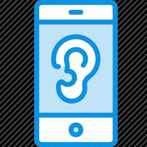 control, microphone, remote, smartphone, spy, trojan, virus icon
