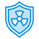 guard, nuclear, protect, protection, radiation, shield icon