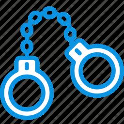 criminal, felony, handcuffs, jail, locked, police, prison icon