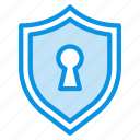encryption, keyhole, private, protection, secure, security, shield icon