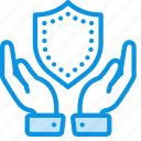 hands, insurance, safe icon