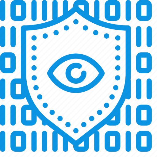 code, data, encryption, eye, private, protection, secure, shield icon