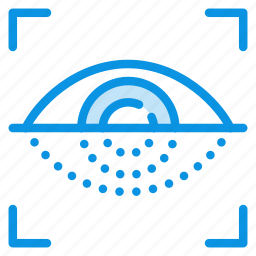 password, protection, retina, scan, secure, security icon