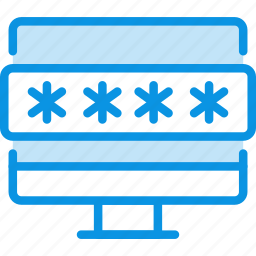 device, password, protection icon
