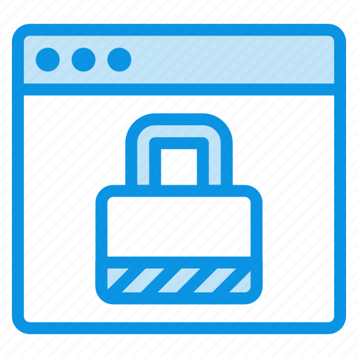 Web, secure, lock icon