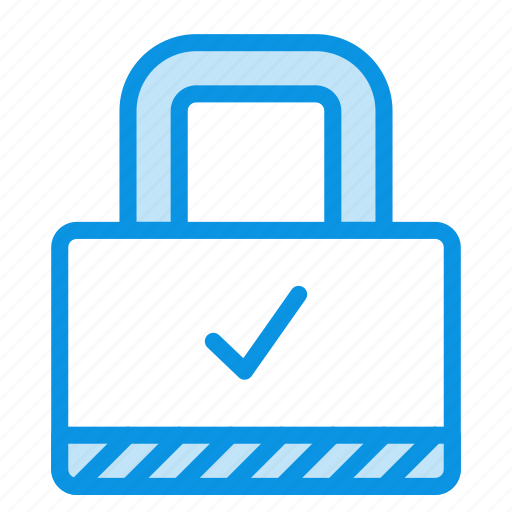 check, lock, padlock, password, private, protection, secure icon