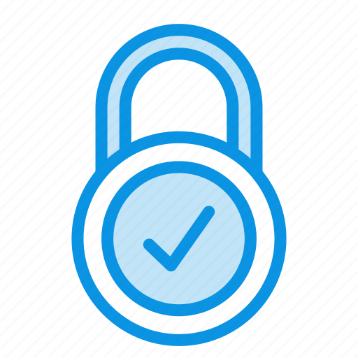 lock, ok, padlock, password, private, protection, secure icon
