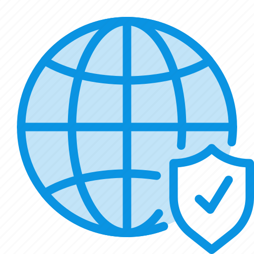 global, globe, internet, network, protection, security, web icon