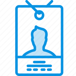 access, account, badge, card, employee, id, pass, security icon