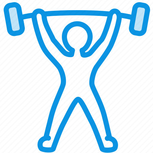 barbell, olympic, powerlift, powerlifting, rod, sport, weight, weightlift, weightlifting icon