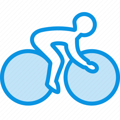 bicycle, bicyclist, bike, cycling, games, olympic, speed, sport icon