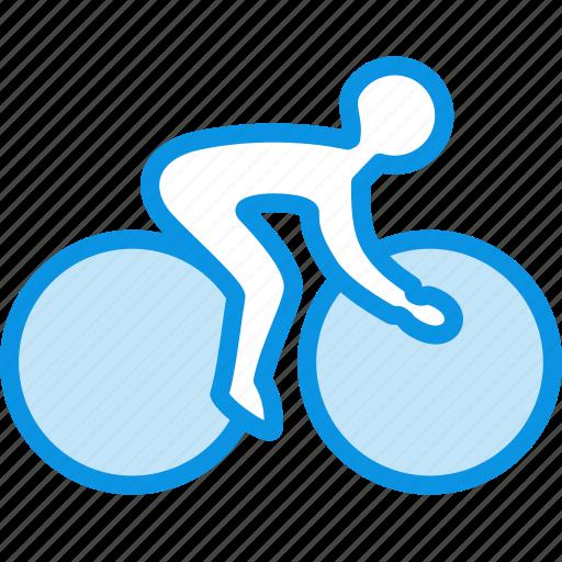 bicycle, olympics, sport icon