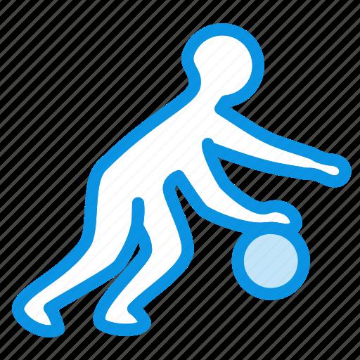 ball, basketball, dribble, games, human, olympic, play, sport icon