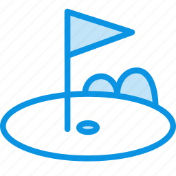 field, flag, game, golf, grasspot, lawn, sport icon