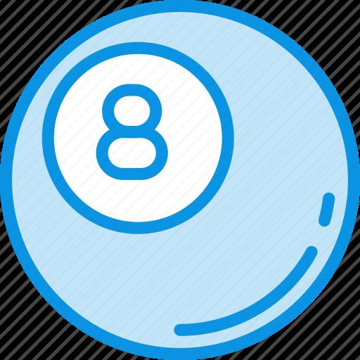 ball, billiard, game icon