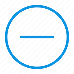 circle, close, delete, hide, minus, turn icon