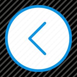 arrow, circle, home, left, prev, previous icon
