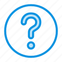 ask, circle, help, question, support icon