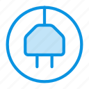 charge, electric, plug icon