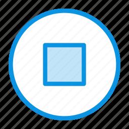 circle, stop icon