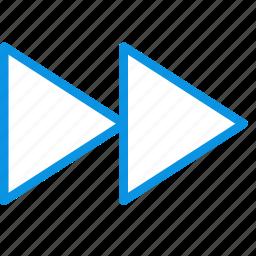 foward, next, rewind icon