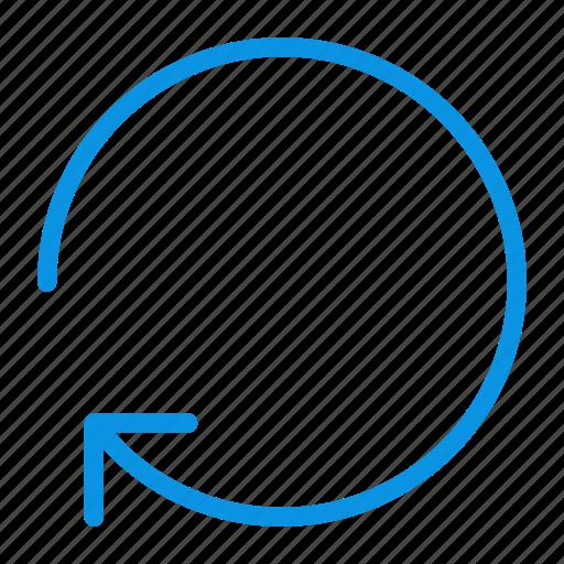 arrow, circle, clockwise, rotate icon