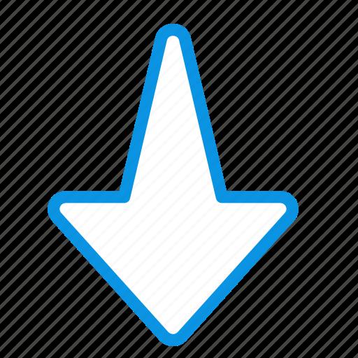 arrow, down icon