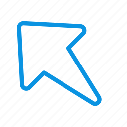 arrow, diagonal, left, north, up, west icon