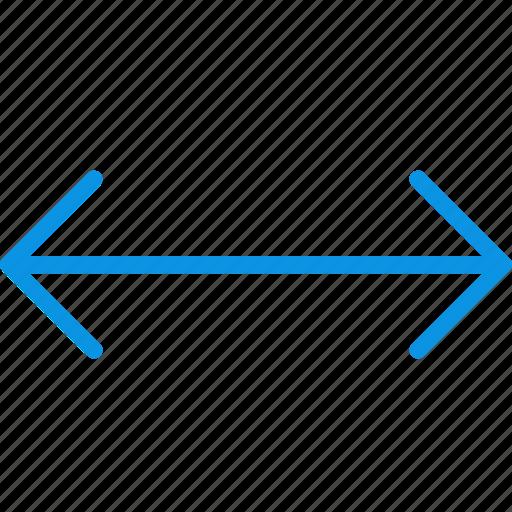 arrow, horizontal, left, move, right, scale, transform icon