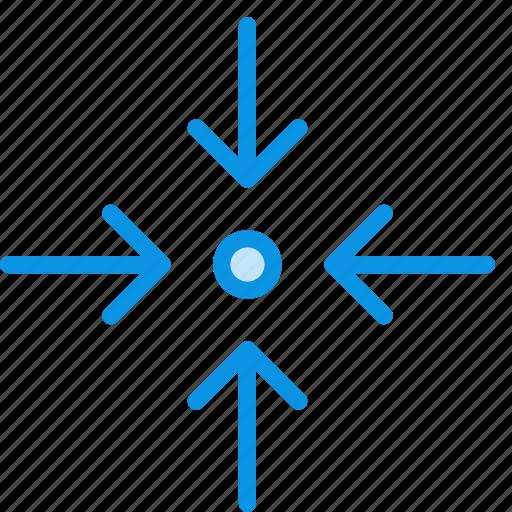 arrow, collapse, zoom icon