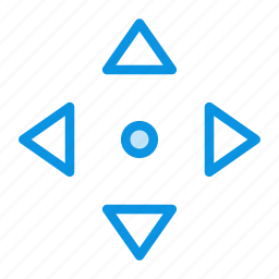 arrow, down, left, move, navigate, right, up icon