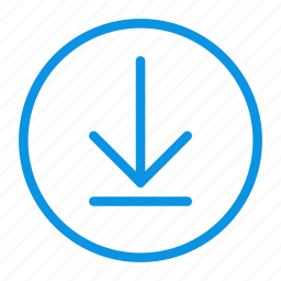 circle, download icon