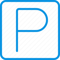 park, parking, sign, square icon