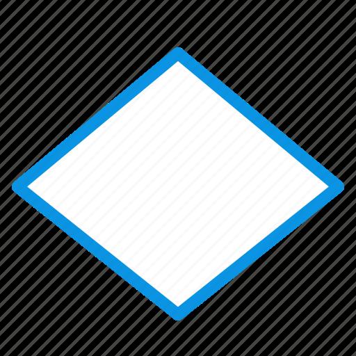 rhombus, sign icon