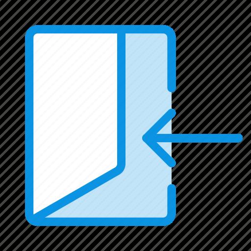 door, enter, input, login, sign icon