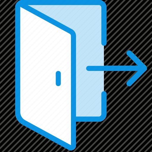 Door, exit, quit icon - Download on Iconfinder on Iconfinder