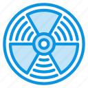 atomic, danger, radiation icon