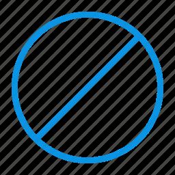 cancel, cancellation, forbidden, stop icon