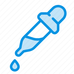 dropper, dye, medicine, paint, pipette, tool icon