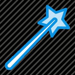 magic, stick, wizard icon