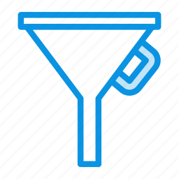 filter, funnel, tool icon