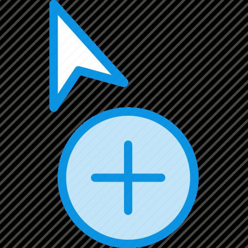 add, copy, cursor icon